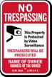 Custom New Mexico No Trespassing Sign