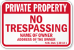 New Mexico Private Property Sign