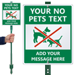 Custom No Pet Sign