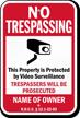 Custom North Dakota No Trespassing Sign
