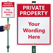 Custom Private Property LawnBoss Sign