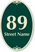 Customizable Street Name and Number Signature Sign