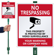 Custom No Trespassing LawnBoss® Sign & Stake Kit