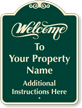 Custom Welcome Signature Sign