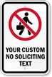 Customized No Soliciting With Graphic Sign
