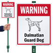Warning Dalmatian Guard Dog LawnBoss™ Signs