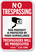 District of Columbia Property Is Protected By Video Surveillance Sign