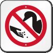 Do Not Feed Ducks Symbol Sign