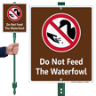 Do Not Feed The Waterfowl Lawnboss Sign