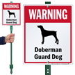 Warning Doberman Guard Dog LawnBoss™ Signs