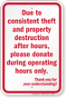 Donate During Operating Hours Only Anti Theft Sign