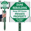 Dune Rebuilding Private Property LawnBoss Sign