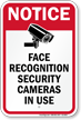 Face Recognition Security Cameras In Use Sign