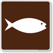 Fish Hatchery Symbol Sign For Campsite