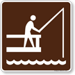 Fishing Pier Symbol Sign For Campsite