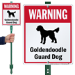 Warning Golden Doodle Guard Dog LawnBoss™ Signs