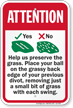 Help Us Preserve The Grass Golf Course Sign