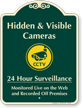 Hidden & Visible Cameras Surveillance Signature Sign