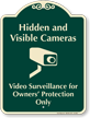 Hidden And Visible Cameras Video Surveillance Sign