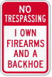 Funny No Trespassing Sign