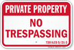 Illinois Private Property Sign