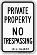 Indiana No Trespassing Sign