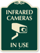 Infrared Cameras In Use Sign