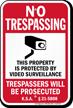 Kansas No Trespassing Sign
