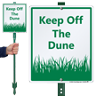 Dune LawnBoss® Sign & Stake Kit