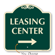 Designer Leasing Center Sign with Arrow