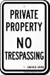Louisiana No Trespassing Sign