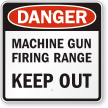 Shooting Range Sign