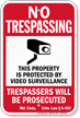 Maryland Property Is Protected By Video Surveillance Sign