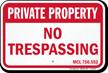 Michigan Private Property Sign