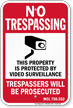 Michigan Property Is Protected By Video Surveillance Sign