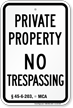 Montana No Trespassing Sign