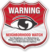 Neighborhood Crime Watch Shield Sign