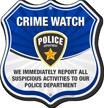 Neighborhood Crime Watch Shield Sign