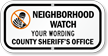 Custom Neighborhood Watch Sign [add name, telephone #]