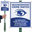 Neighborhood Crime Watch Sign (with crime watch symbol)