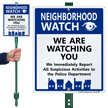 Neighborhood Crime Watch LawnBoss® Sign & Stake Kit