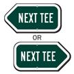 Next Tee Golf Course Sign