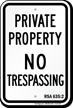 New Hampshire No Trespassing Sign