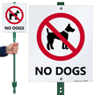 No Dogs LawnBoss® Sign & Stake Kit