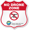 No Drone Zone Shield Sign
