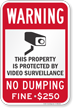 No Dumping Warning Sign (with Graphic)