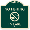 No Fishing In Lake Sign