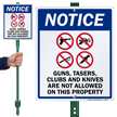 LawnBoss® Gun Rules Sign & Stake Kit