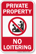 No Loitering Private Property Sign