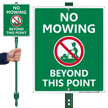 No Mowing Beyond This Point Sign & Kit